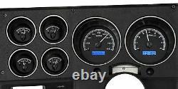Metric Dakota Digital Black Alloy Blue Vhx Gauge Kit Pour 1973-87 Chevy C10 Truck