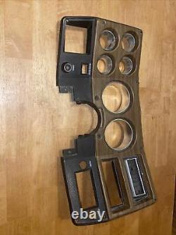 Oem 1973-1980 Chevy Gmc Camion Suburban Blazer Cluster Dash Lunette Grain De Bois