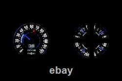 Retrotech 47-53 Chevy Gmc Truck Dakota Digital Led Sur Mesure Rtx Kit Jauge Analogique