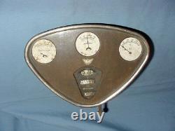 Vintage Reo Dash Panel Speedometer Oil Amp Gas Fuel Gauge Cluster